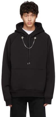 Neil Barrett Black Oversized Beefy Chain Hoodie