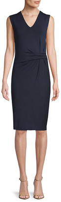 Catherine Malandrino V-Neck Jersey Knee-Length Dress