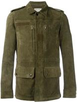 Saint Laurent classic military jacket - men - Goat Suede - 46