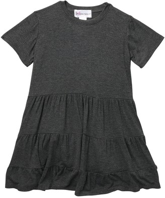 Cotton Emporium Tiered Short Sleeve Dress (Toddler Girls)