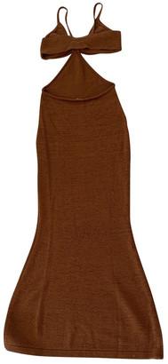 Cult Gaia Brown Cotton Dresses