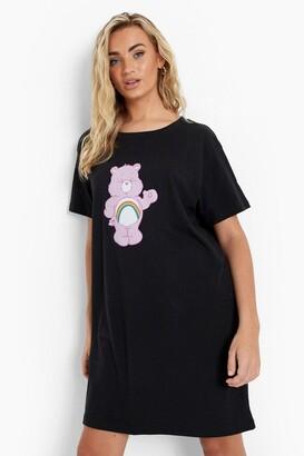 boohoo Care Bear Licenced T Shirt Dress