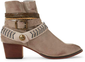 Gc Shoes Taupe Randee Strappy Ankle Booties