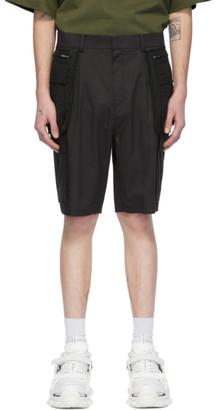 Juun.J Black Overlay Cargo Shorts