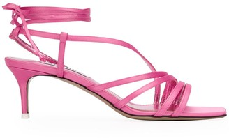 The Attico Strappy Kitten Heel Sandals