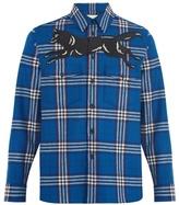 Gucci Wolf-appliqué Checked Wool-blend Shirt
