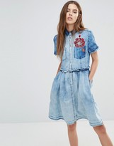 Diesel Denim Dress with Embroidery