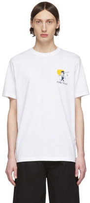 Paul Smith White Gone Fishing T-Shirt