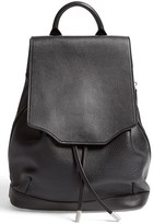 Rag & Bone 'Pilot' Leather Backpack - Black