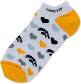 For Bare Feet Women's Iowa Hawkeyes Heart Logo Repeat Socks