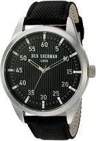 Ben Sherman Men's 'Portobello Professional' Quartz Stainless Steel and Leather Automatic Watch, Color: (Model: WB028BA)