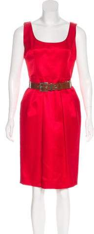 Dolce & Gabbana Belted Knee-Length Sheath Dress
