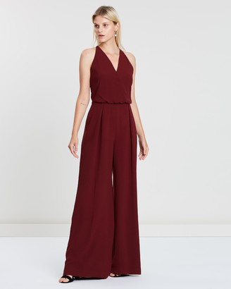 Reiss Kadie Embroidered Strappy Back Jumpsuit