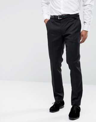 Farah Smart Skinny Tuxedo Suit Trousers-Black