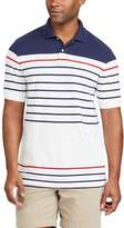 Chaps Big & Tall Classic-Fit Striped Performance Polo