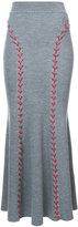 Alexander McQueen lace-up maxi skirt