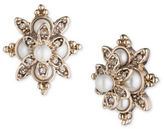 Marchesa Simulated Pearls Goldtone Button Stud Earrings
