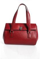 Lambertson Truex Vintage Red Leather Silver Buckle Flap Satchel Handbag