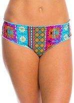 Hobie Sun Daze Stripe Scalloped Hipster Bikini Bottom 8140308