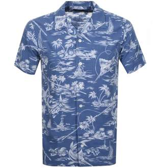Ralph Lauren Floral Short Sleeve Shirt Blue