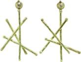 BOAZ KASHI Diamond Stick Earrings