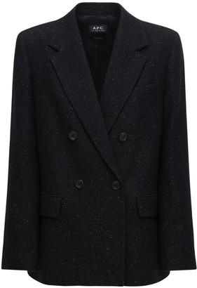 A.P.C. Wool Blend Tweed Blazer