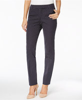 Charter Club Petite Bristol Printed Slim-Leg Ankle Pants, Only at Macy's