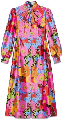 Gucci One-O-A-Kind Ken Scott print silk dress