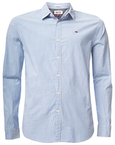 Hilfiger Denim Basic Dobby Strip Shirt, Light Blue