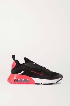 Nike Air Max 2090 Canvas, Suede And Mesh Sneakers - Black