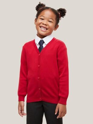 John Lewis & Partners Unisex Cotton Easy Care V-Neck Cardigan