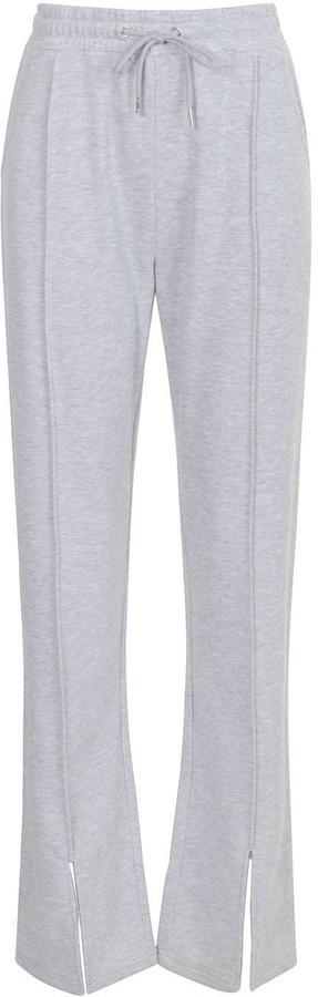 Thumbnail for your product : boohoo Straight Leg Split Hem Joggers