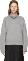 Wendelborn Grey Oversized Cashmere Turtleneck