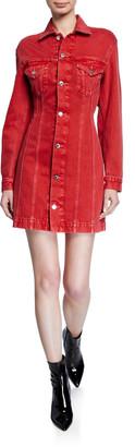Helmut Lang Femme Denim Trucker Dress