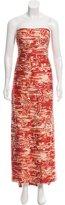 Oscar de la Renta Embellished Silk Gown