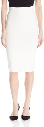BCBGMAXAZRIA Women's Leger Mid-Length Knit Pencil Skirt