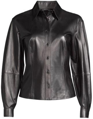Lafayette 148 New York Davies Leather Shirt