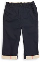 Burberry Toddler Boy's 'Ricky' Check Cuff Chino Pants
