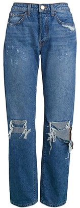 Brandon Maxwell Boyfriend Ripped Jeans