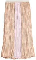 Agnona Pleated Silk Skirt