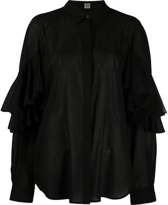 Totême Ruffle Sleeve Blouse