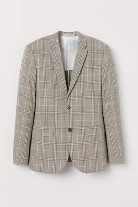 H&M Slim Fit Checked Blazer