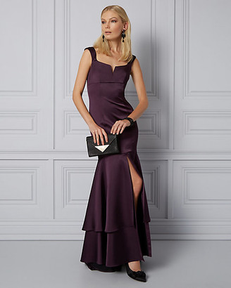 Le Château Satin V-Neck Mermaid Gown