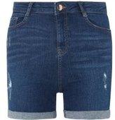 Dorothy Perkins Womens Blue Mid Wash Shaping Shorts- Blue