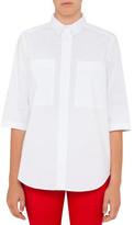 Armani Jeans Poplin 3/4 Sleeve Classic Shirt