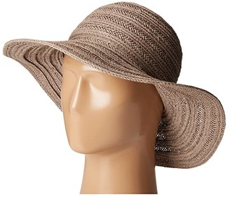San Diego Hat Company PBL3078 Four Buttons Paper Braid Floppy Hat with Self Knotted Tie (Grey) Traditional Hats