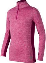 New Balance Long Sleeve Collar Neck T-Shirt-Preschool Girls