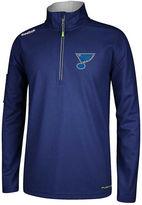 Reebok Men's St. Louis Blues Baselayer Quarter-Zip Jacket