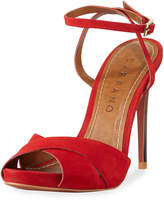 Carrano Bia Nubuck Dress Sandal, Red