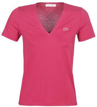Lacoste TF8908 women's T shirt in Pink